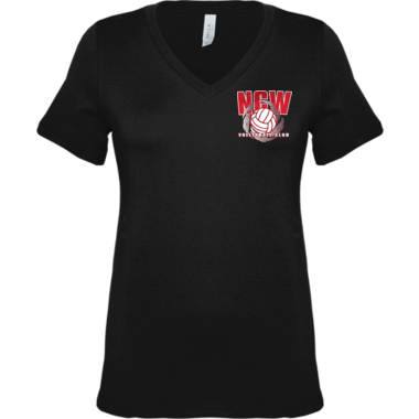 Womens NCW v neckTee w/screenprint logo
