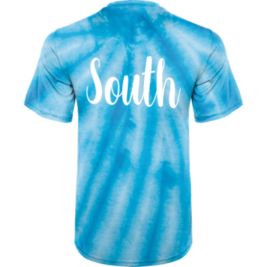 NLDC South Blue Tie Dye Shirt