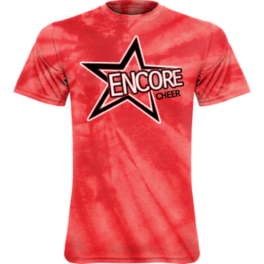 ENCORE CHEER TIE DYE TSHIRT