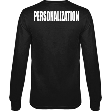 Personalized Long Sleeve Tee Name on back