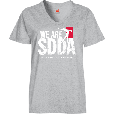 SDDA VNeck Tee in Gray