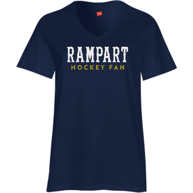 GLITTER Rampart Hockey Fan Women's V Neck