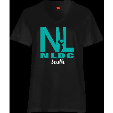 NLDC SOUTH BLACK V NECK SHIRT