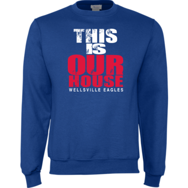 Our House crew sweatshirt in blue