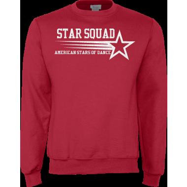 Red Crewneck Sweatshirt w/Glitter