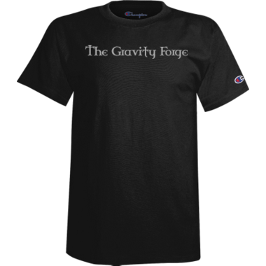 Black Cotton Gravity Shirt