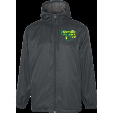 GTC Unisex & Youth Hooded Stadium Jacket (Black)