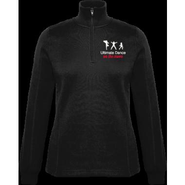 Womens half zip (front logo only)