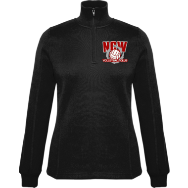 Ladies 1/4 Zip Fleece w/ Embroidered Logo