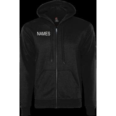 Personalized Black Zip Hoodie