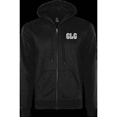 GLG zip up (front pocket print)
