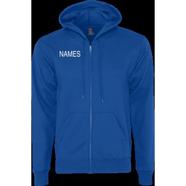 Personalized Blue Zip Hoodie