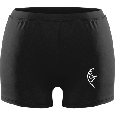 Matte white logo Groove Shorts