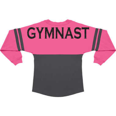"Campus Tee with ""GYMNAST"" on back"