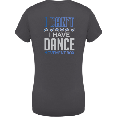 "Metallic ""I have dance"" VNeck"