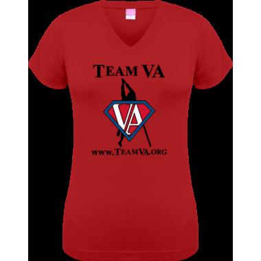Team VA Junior Cut VNeck Tee Front & Back Digital Print
