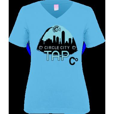 CCTC Women's VNeck Tee Blue