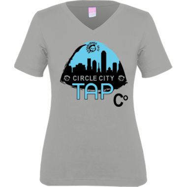 CCTC Women's VNeck Tee Grey