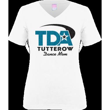 TDA Dance Mom white V neck T