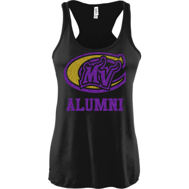 Alumni Logo in Premium Purple & Gold Glitter
