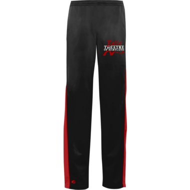 Warm-Up Pant in Black/Red w/ Embroidered Logo