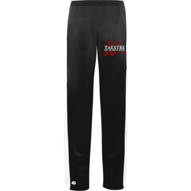 Warm-Up Pant in Black/White w/ Embroidered Logo