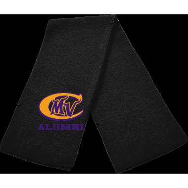 Solid Knit Scarf-Black w/ MVC Alumni Logo