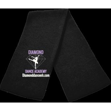 Solid Black Knit Scarf w/logo